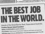 Best Job in the World Controversy