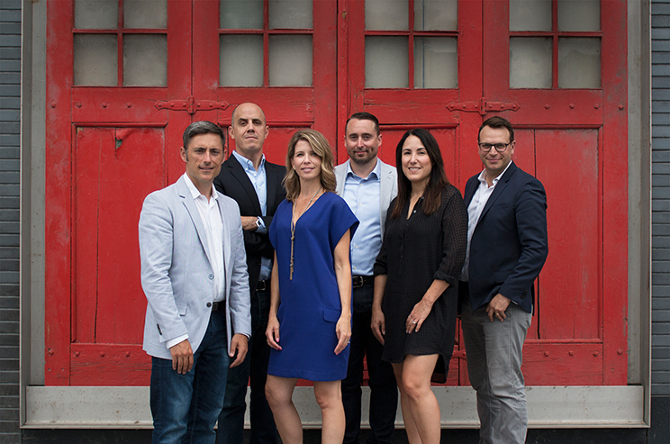 Left to right: Joel Arbez, ​Executive Creative Director GREY Canada; James Ansley, ​Executive Creative Director GREY Canada; Darlene Remlinger, President of GREY Toronto; Ian Wentworth, Vice President Planning and Innovation; Leah Power, Chief Operating Officer, GREY Canada; Paul Curtin, VP Business Development, GREY Canada