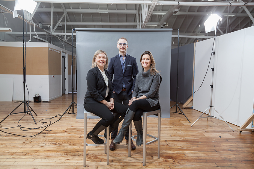 FCB/SIX Leadership team. Left to right: Andrea Cook, President; Ian Mackenzie, Executive Creative Director; Vicki Waschkowski, VP, Managing Director