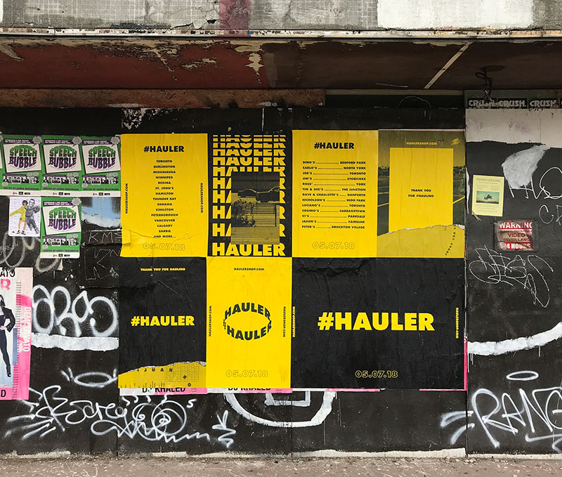 #Hauler Wild Postings