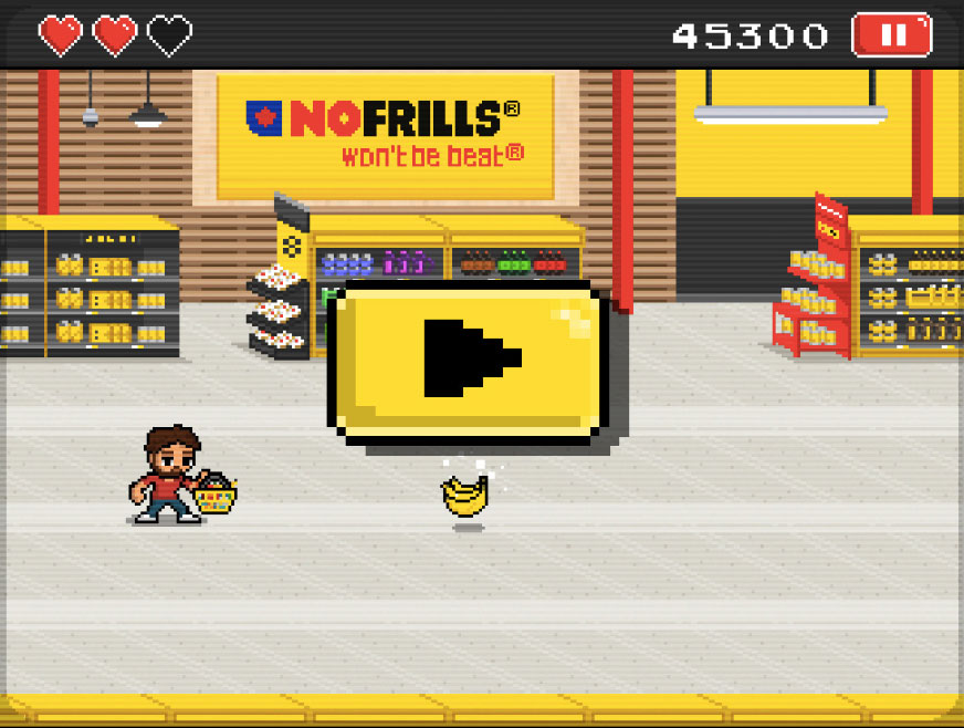 No Frills' 8-Bit Video Game | Glossy