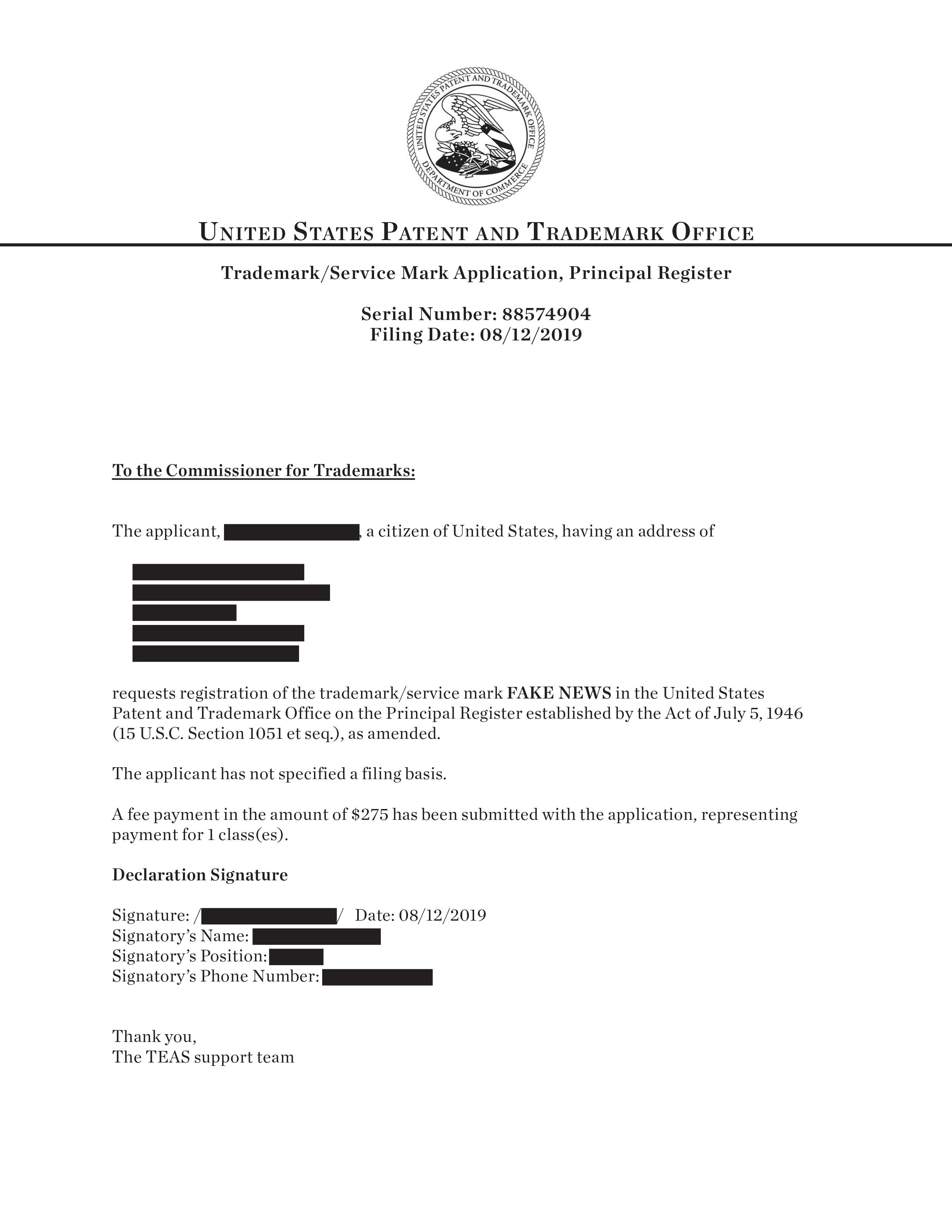 FakeNews_TrademarkApplication (1)